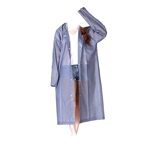 Regenjas EVA Vrouwen Raincoat Verdikte Waterproof Rain Coat Women Clear Transparent Tour waterdicht Regenkleding Suit,Gray