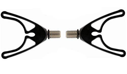 Drchoer 2 Soportes de plástico para cañas de Pescar en V, reposabrazos Frontales/respaldos para Sujetar tu Carpa/Campo/cañas de Pescar para Pesca de Carpas, Aparejos de Pesca, Rosca M3/8
