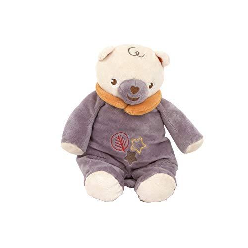 ARDITEX FP10104 Muñeco Peluche de Bebé Sentado de 28cm con sonajero de Mattel-Fisher-Price