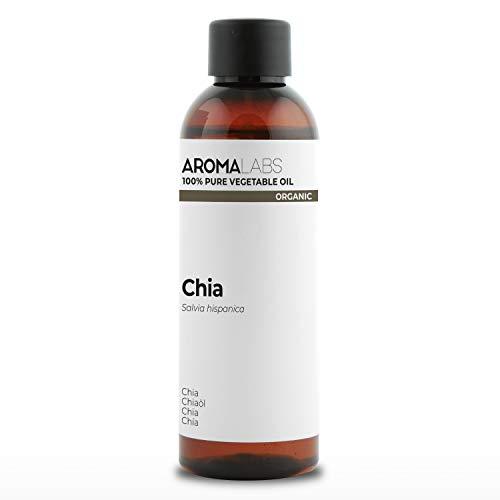 BIO - Olio di Chia, garantito 100% puro, naturale e spremuto a freddo -Biologico certificato da Ecocert - Aroma Labs