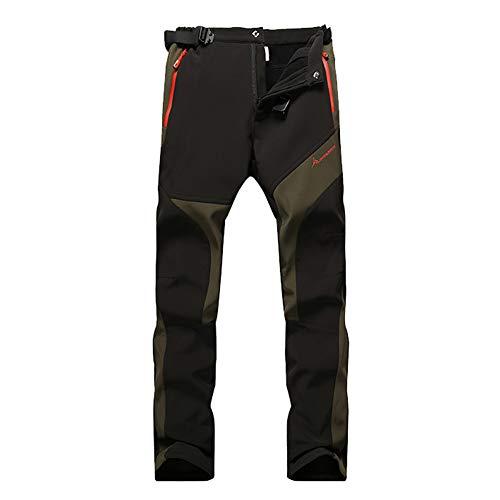 JIANYE Pantaloni Trekking Uomo Pantaloni Montagna Donna Pantaloni Outdoor Impermeabili Pantaloni Tecnici Caldi Pantaloni Invernali Nero L
