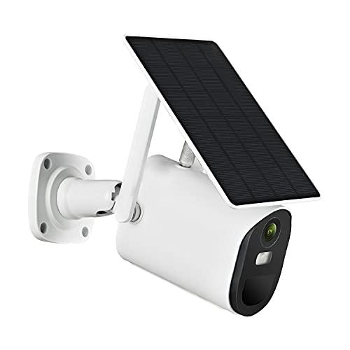 TFACR Kits De Sistema De Videoportero para Puerta De Entrada, Cámara 4G IP 1080P para El Hogar con Energía Solar con Batería Recargable Audio Bidireccional, Detección De Movimiento PIR E IP66
