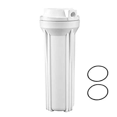 "Geekpure Filter Housing 10"" for Reverse Osmosis System -1/4 Inch Inlet/Outlet-for 2.5 Inch x 10 Inch Fitlers (RO5-FH10)"