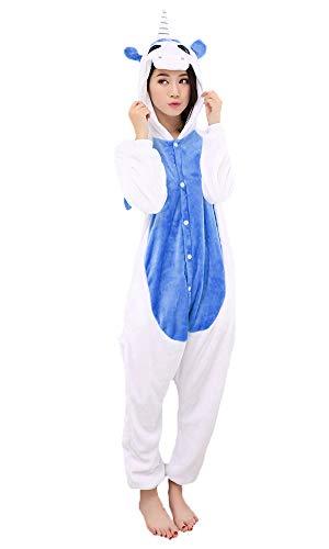 Pigiama/ tuta/ travestimento Kigurumi unisex da adulto, motivo: cosplay di animali Bleu Foncé Large
