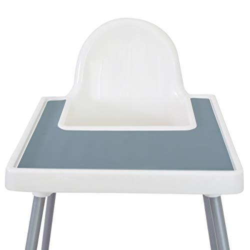 Mango Co. IKEA Hochstuhl-Platzset für Antilop-Baby-Hochstuhl – BPA-frei, spülmaschinenfest, Silikon-Platzsets – Fingerfood Tischset für Kleinkinder und Baby (Ether Blue)