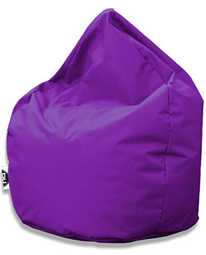 Patchhome Sitzsack Tropfenform - Lila für In & Outdoor XXL 420 Liter - mit Styropor Füllung in 25 versch. Farben und 3 Größen