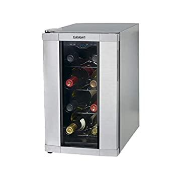 Cuisinart 8 Bottle Compact Single Zone Freestanding Personal Reserve Wine Cellar, CWC-800FR