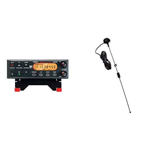 Uniden BC355N 800 MHz 300-Channel Base/Mobile Scanner, Close Call RF Capture, Black & Tram 1089-BNC Scanner Mini-Magnet Antenna VHF/UHF/800MHz-1, 300MHz with BNC-Male Connector