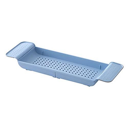 XinLuMing Bandeja de bañera Bandeja de baño para Ducha Caddy Estante de Moda básico Extensible para almacenar en bañera Organizador Multifuncional para Ducha de baño (Color : B)