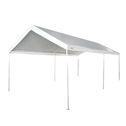 ZDYLM-Y 3x6M Carport Car Canopy Vielseitiger Shelter Car Shed mit 6 Fußrohren, wasserdichtem PE-Stoff und starker Tragfähigkeit, weiß