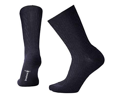 Smartwool Women's Cable II Socks,Deep Navy Heather,Medium