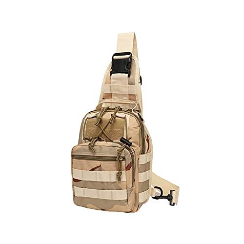 HQS Bolsa de ciclismo de lona al aire libre táctica bolsa de pecho camuflaje salvaje bolsa de hombro para deportes al aire libre, color, talla Talla Unica