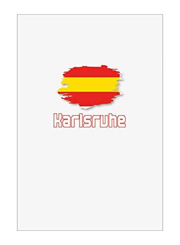 Tipolitografia Ghisleri Handtuch, Strandtuch, Handtuch Karlsruhe mit Flagge 18