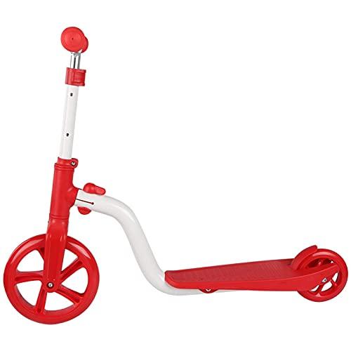 Surebuy Vespa en línea Plegable de la Vespa de la Altura Ajustable, Ejercicio de los Deportes al Aire Libre, Ejercicio de los niños(Red and White Two-Wheeled Scooter)