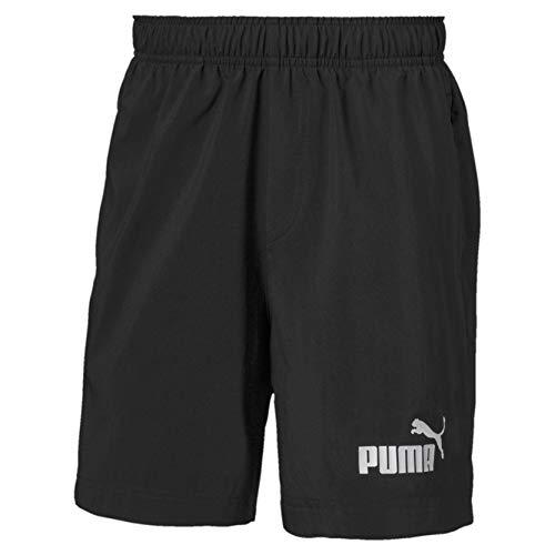PUMA Jungen ESS Woven Shorts 5` B Hose, Black, 140