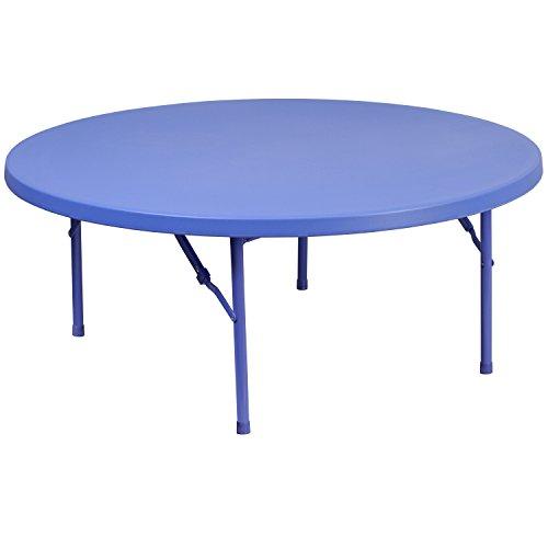 Flash Furniture 4-Foot Round Kid's Blue Plastic Folding Table