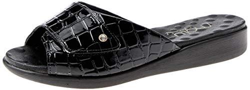 Sandália com Velcro Malu Super Comfort Ester Feminino Preto 37