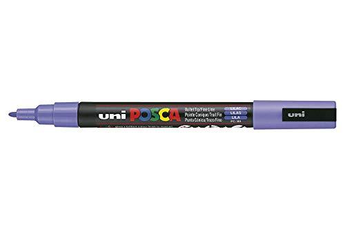 UNI-BALL POSCA MARKER PEN PC-3M - LILAC - SINGLE PEN