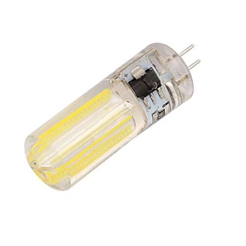 Aexit AC 220V 5W COB LED Maíz Bombilla Lámpara de silicona Regulable (model: U6207VIIO-6258VZ) G4 Neutral Blanco