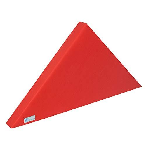 Horch Akustik Schallabsorber, Klasse A, Akustikelement, Dreieck, Breite: 85cm Höhe: 42,5cm, rot, Klettaufhängung
