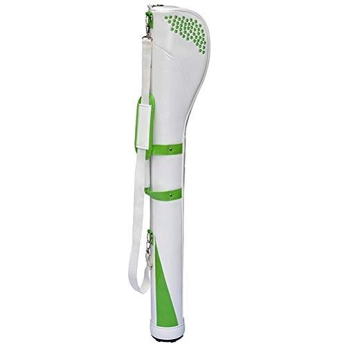 Review XINGZHE Golf Ladies Gun Bag PU Club Bag Golf Bag 128cmX14cm Golf Stand Bag (Color : Green)