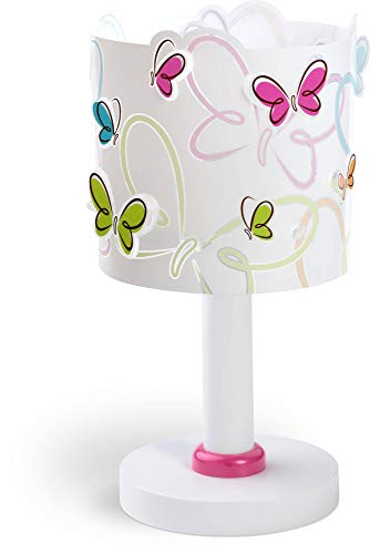 Dalber lampe de table enfant Butterfly Papillons multicolores