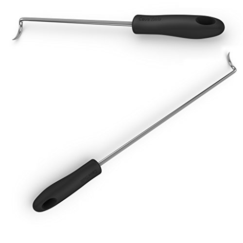 Fantastic Prices! Cave Tools Food Flipper & Turner Hooks - Large + Small Barbecue & Cooking Turners ...