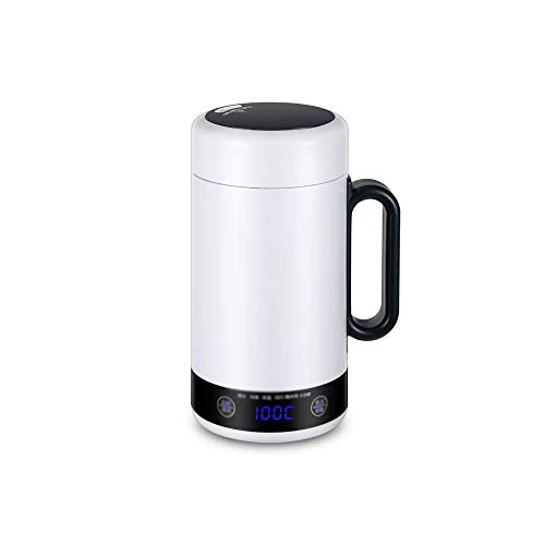 YWSZJ Mini hervidor eléctrico portátil de Agua Caliente, Caldera de calefacción térmica, Tetera de Viaje, Taza, Calentador de Leche, estofado, Cocina de gachas, Taza Saludable