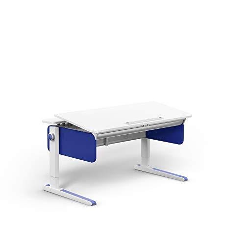 moll Champion Front up Kinderschreibtisch, Korpus Weiß - Seiten blau, 72 x 121 x 53 cm