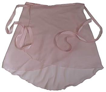 Sheer-Delights Pink Georgette Wrap Ballet Skirt