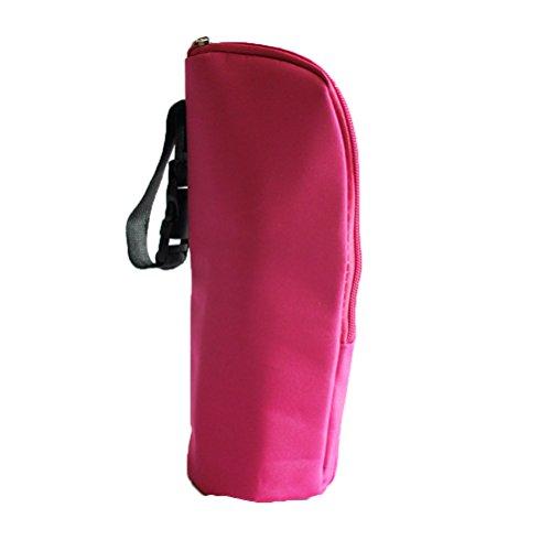 NUOLUX - Bolsa térmica para biberones de leche para bebé, color rojo rosa