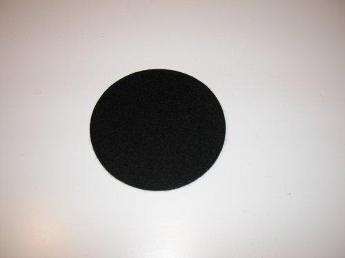 Hey Sign Untersetzer rund, ca 12 cm, Schwarz 02