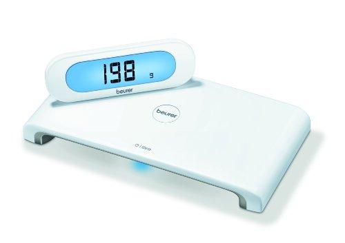 Beurer KS600 - Balanza de cocina, 5 kg/1 gr, pantallaindependiente, color blanco