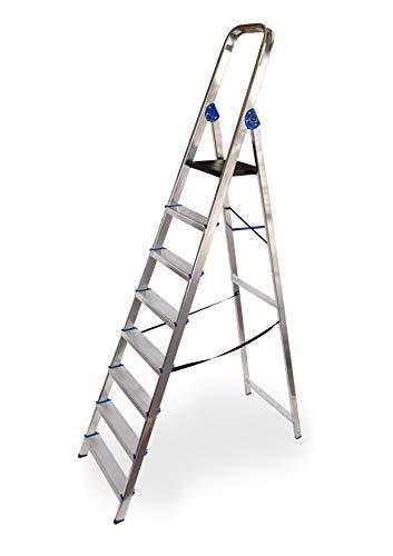 Escalera domestica de aluminio Altipesa (Aluminio, 8 PELDAÑOS)