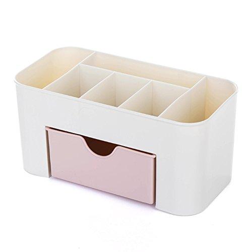 collectsound Bureau Maquillage Comestics Bijoux Papeterie tiroir de Rangement Type boîte d'économie d'espace, Rose, Taille Unique