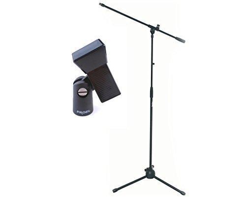 PROEL RSM180 - Asta per microfono a giraffa + PROEL APM30 pinza porta microfono, Nero - Bundle (RSM180 x 1 + APM30 x 1)