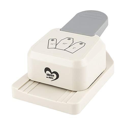 Ideen mit Herz Anhänger-Stanzer | Etiketten-Stanzer für 3 Verschiedene Größen | Motiv-Locher für Papier | Geschenkanhänger basteln (Geschenkanhänger 2)