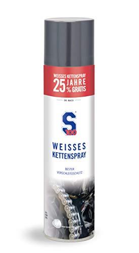 Dr. Wack - S100 Weißes Kettenspray +25% gratis, 500ml I Premium Motorrad-Kettenöl für weniger Reibung & Verschleiß I Für alle Motorräder geeignet I Hochwertige Motorradpflege – Made in Germany