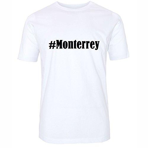 Reifen-Markt Camiseta #Monterrey Hashtag para Mujer y Hombre en Blanco y Negro