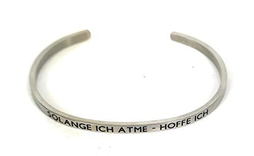 Mein Mantra by Alexa Armreif/Bangle SOLANGE ICH ATME - HOFFE ICH silber