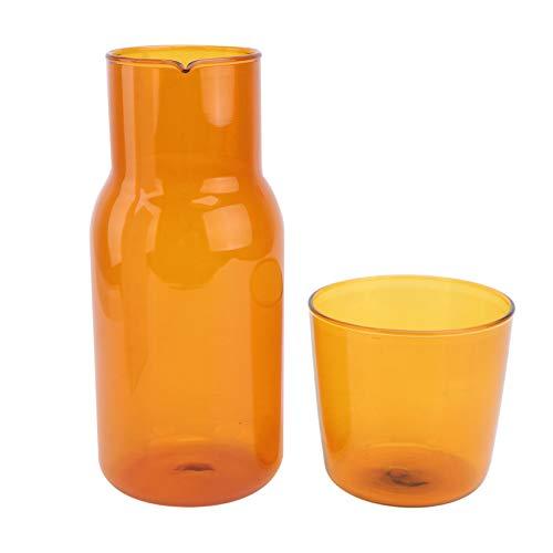 YARNOW 1 Set Caraffa Acqua da Comodino Set Bicchiere Notte Caraffa con Bicchiere Bicchiere Set Cioccolato