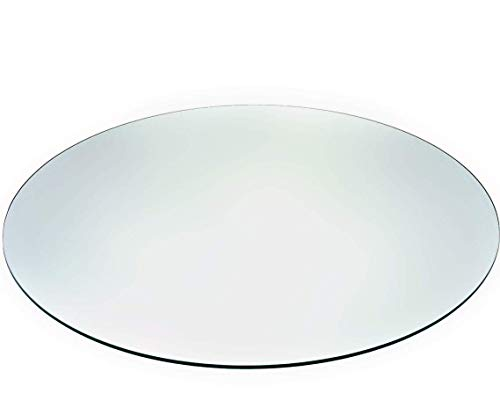 "Audio-Visual Direct Tempered Glass Table Top with Rounded Edge (36"")"