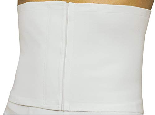 MANIFATTURA BERNINA Sana 55104 (Talla 5) - Faja compresión Abdominal Ajustable Alta 22 cm en algodón cinturón de Apoyo postoperatorio
