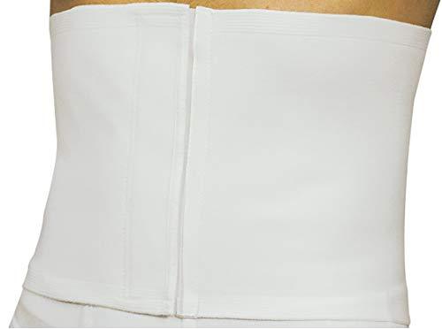 MANIFATTURA BERNINA Sana 55104 (Talla 3) - Faja compresión Abdominal Ajustable Alta 22 cm en algodón cinturón de Apoyo postoperatorio