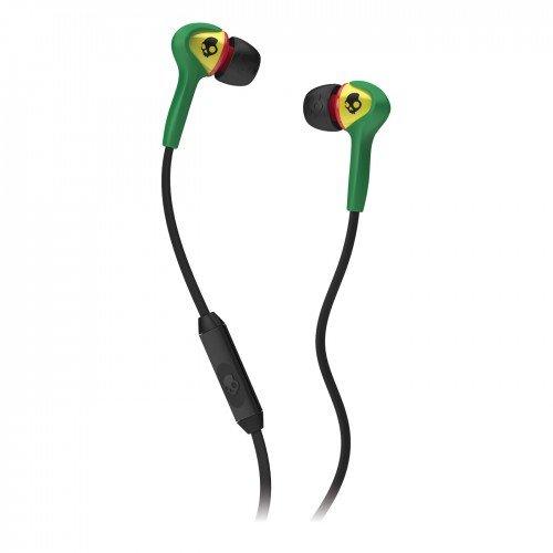 Skullcandy Smokin Buds S2SBFY-058 In-Ear Kopfhörer mit Mikrofon Rasta