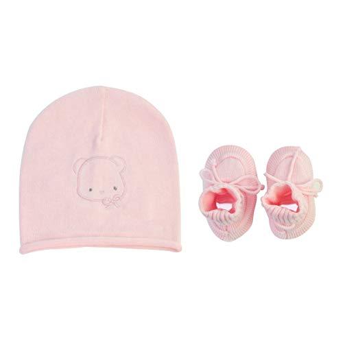 Lion Bear Bonnet bébé Chapeaux Nouveau-nés, 100% Coton Bouchon et Chaussettes Unisexe Doux Nourrisson Casquettes pour 0-3 Mois, 1 Jeu