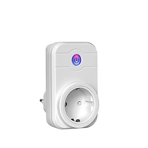 Enchufe Inteligente WiFi con los Aparatos Electrodomésticos de Control de Aplicación para iOS y Android Trabaja con Amazon Alexa para el Hogar y la Oficina Interruptor de Control Remoto-Blanco