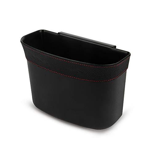 No/Brand Heiqlay Auto Mülleimer Getränkehalter, kfz Abfalleimer Auto Aufbewahrungsbox HäNgendes Design Wasserdicht Auslaufsicher Abfallbehälter (1 Stück, 19 x 10 x 14,5 cm, Schwarz)