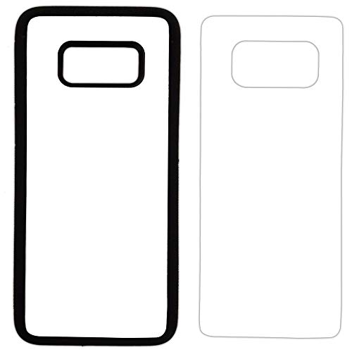 5X Sublimation Rubber Black Cases Compatible with Galaxy S8 - Blank Dye Cases and Aluminum Inserts for Dye Sublimation/Printable Phone Cover Blanks, Made by INNOSUB USA