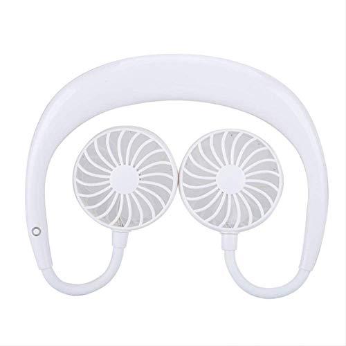 NOSSON Ventilador de Cuello Recargable, Ventilador USB Lazy Portable Neck Hanging USB Fan Load Cooling Table
